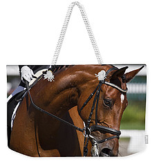 Weekender Tote Bag featuring the photograph Equestrian At Work D4913 by Wes and Dotty Weber