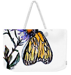 Erika's Butterfly One Weekender Tote Bag by Clyde J Kell