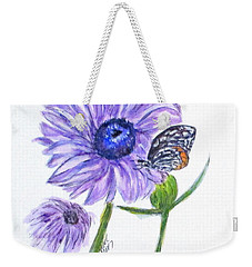 Erika's Butterfly Three Weekender Tote Bag by Clyde J Kell