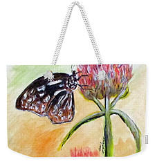 Erika's Butterfly Two Weekender Tote Bag by Clyde J Kell