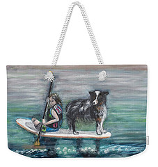 Erin And Oakie On The Paddle Board Weekender Tote Bag