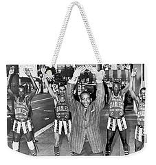 Ernie Banks And Globe Trotters Weekender Tote Bag by Underwood Archives