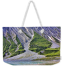 Weekender Tote Bag featuring the photograph Erosion by Kristin Elmquist