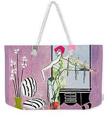 Erte'-esque -- Art Deco Interior W/ Fashion Figure Weekender Tote Bag