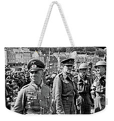 Erwin Rommel And Captured British Soldiers Tobruck Libya 1942 Color Added 2016  Weekender Tote Bag