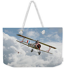 Weekender Tote Bag featuring the photograph Escadrille Lafayette - Hunters by Pat Speirs