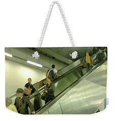 Weekender Tote Bag featuring the photograph Escalator Tate Modern by Anne Kotan