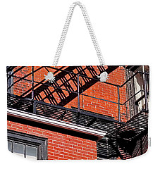 Weekender Tote Bag featuring the photograph Escape Angles by Rona Black