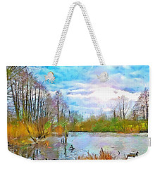 Escape By The Lake Weekender Tote Bag