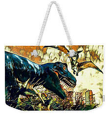 Escape From Jurassic Park Weekender Tote Bag by Pennie  McCracken