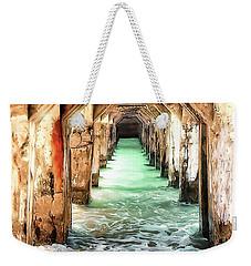 Weekender Tote Bag featuring the digital art Escape To Atlantis by Pennie  McCracken