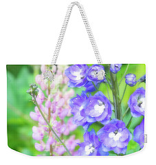 Weekender Tote Bag featuring the photograph Escape To The Garden by Bonnie Bruno