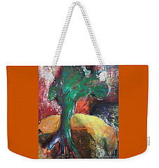 Escaped The Blaze Weekender Tote Bag by Elizabeth Fontaine-Barr
