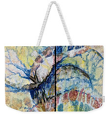 Weekender Tote Bag featuring the painting Escaping Reality by Carolyn Rosenberger