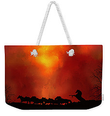 Escaping The Inferno Weekender Tote Bag by Diane Schuster