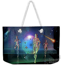 Weekender Tote Bag featuring the digital art Escaping The  Matrix by Shadowlea Is