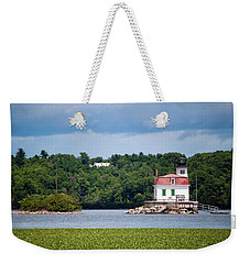 Weekender Tote Bag featuring the photograph Esopus Lighthouse In July 2016 #1 by Jeff Severson