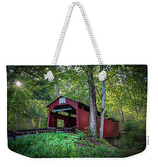 Weekender Tote Bag featuring the photograph Esther Furnace Bridge by Marvin Spates