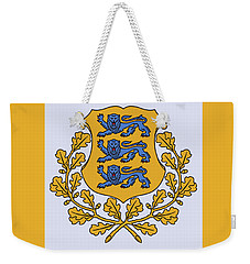 Weekender Tote Bag featuring the drawing Estonia Coat Of Arms by Movie Poster Prints