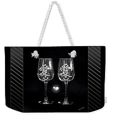 Etched With Love Weekender Tote Bag