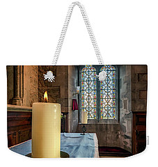 Weekender Tote Bag featuring the photograph Eternal Flame by Adrian Evans