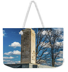 Weekender Tote Bag featuring the photograph Eternal Light Peace Memorial by Nick Zelinsky