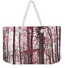 Ethereal Austrian Forest In Marsala Burgundy Wine Weekender Tote Bag