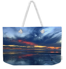 Weekender Tote Bag featuring the photograph Ethereal Beach Blues by John F Tsumas