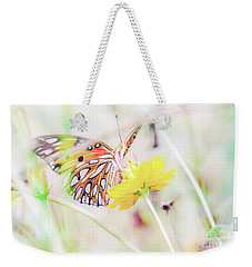 Weekender Tote Bag featuring the photograph Ethereal Butterfly by Andrea Anderegg