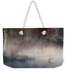 Weekender Tote Bag featuring the photograph Ethereal Goose by Bill Wakeley