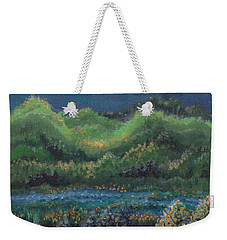 Weekender Tote Bag featuring the painting Ethereal Reality by Holly Carmichael