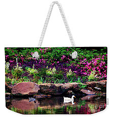 Ethreal Beauty At The Azalea Pond Weekender Tote Bag by Tamyra Ayles