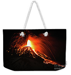 Weekender Tote Bag featuring the pyrography Etna by Bruno Spagnolo