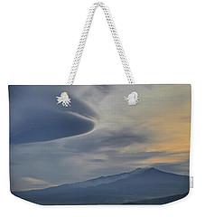 Etna Clouds Weekender Tote Bag