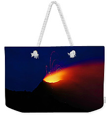Weekender Tote Bag featuring the mixed media Etna by Lucia Sirna