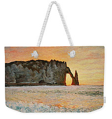 Etretat, Sunset  Weekender Tote Bag by Pierre Van Dijk