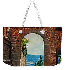 Weekender Tote Bag featuring the photograph Etruscan Arch by Hanny Heim