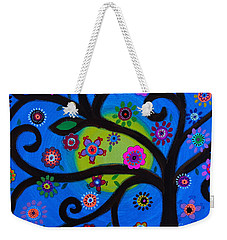 Weekender Tote Bag featuring the painting Etz Chayim by Pristine Cartera Turkus