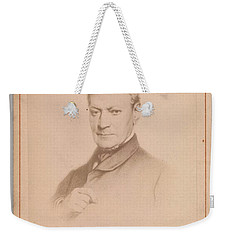 Weekender Tote Bag featuring the painting Eugene Joseph Verboeckhoven  By Hector De Saedeler Belgian, Active 1860s by Artistic Panda