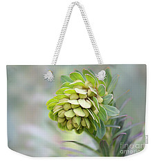 Weekender Tote Bag featuring the photograph Euphorbia by Linda Lees
