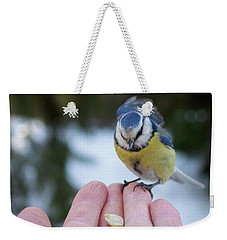 Eurasian Blue Tit Lunch Time Weekender Tote Bag