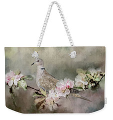 Eurasian Dove In The Garden Weekender Tote Bag