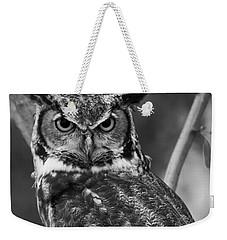 Eurasian Eagle Owl Monochrome Weekender Tote Bag