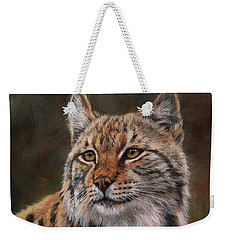 Eurasian Lynx Weekender Tote Bag by David Stribbling