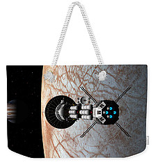 Weekender Tote Bag featuring the digital art Europa Insertion by David Robinson