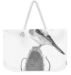 European Goldfinch Weekender Tote Bag by Patricia Hiltz