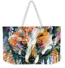 European Red Fox Weekender Tote Bag