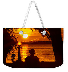 Weekender Tote Bag featuring the photograph Eustis Sunset by Christopher Holmes