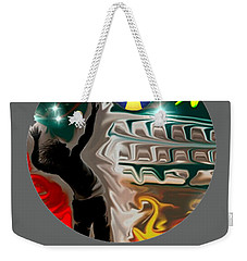 Weekender Tote Bag featuring the digital art Eva Logo by Darren Cannell
