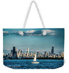 Evan's Chicago Skyline  Weekender Tote Bag